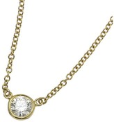 Tiffany & Co. 18K Yellow Gold 0.24ct. Diamond By The Yard Necklace