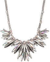Givenchy Hematite-Tone Multi-Crystal Spiked Statement Necklace