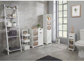 Lloyd Pascal Burford Ready Assembled Painted Side By Side Bathroom Storage Unit - White