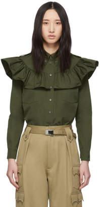 Miu Miu Green Poplin Shirt