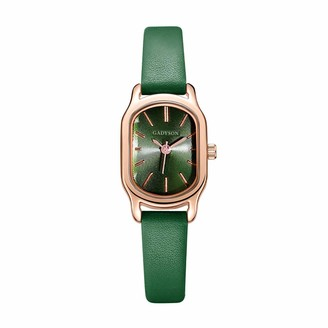 LMDGO Watches Women Popular Quartz Watch Luxury Bracelet Flower Gemstone Wrist Watch Green