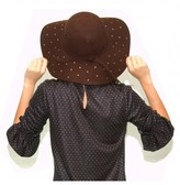 Karen Walker Studded Wide Brim Hat