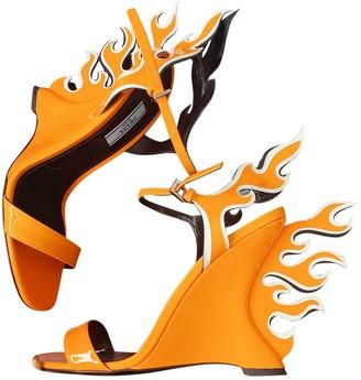 Prada Flame Orange Patent leather Sandals
