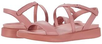 Ecco Flowt LX Strap Sandal (Gravel Cow Leather) Women's Shoes