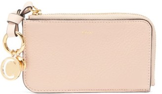 Chloé Alphabet Zip-around Full-grain Leather Purse - Nude