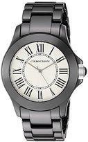 Cabochon Women's 302 Ceramique Analog Display Swiss Quartz Black Watch