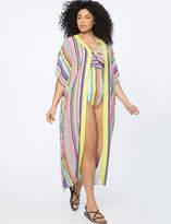 Printed Maxi Kimono Coverup