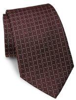 Giorgio Armani Geometric Printed Silk Tie