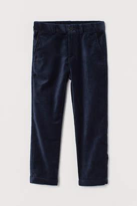 H&M Velvet trousers
