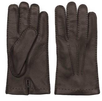Dalgado Handmade Deer Leather Gloves Brown Paolo