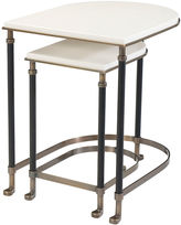 Theodore Alexander Torrance Leather Nesting Tables, White