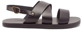Ancient Greek Sandals Miltos Leather Sandals - Mens - Black