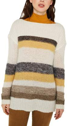 Esprit Womens Stripe Sweater - Yellow