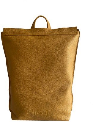 "Kartu Studio Natural Leather Backpack ""Ginger"" - Mustard Yellow"