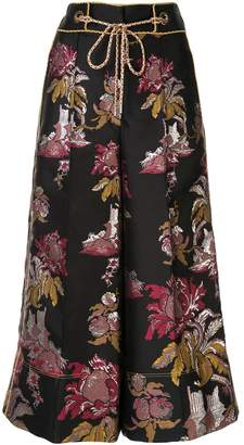 Peter Pilotto floral pattern jacquard culottes