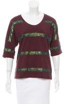 Dries Van Noten Metallic Striped Pullover Sweater w/ Tags