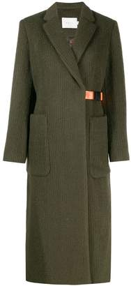 Neul wrap-front belt coat