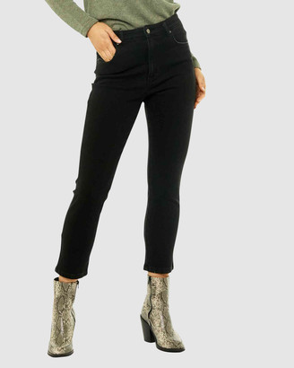 Rusty Women's Straight - High Rise Straight Jean - Size One Size, 6 at The Iconic