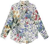 Gucci New Flora print oversize shirt