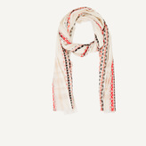 Maje Embroidered cotton scarf