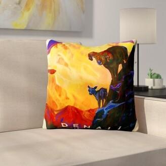 "K&C East Urban Home KC NP Denali Throw Pillow East Urban Home Size: 14"" H x 14"" W x 2"" D"