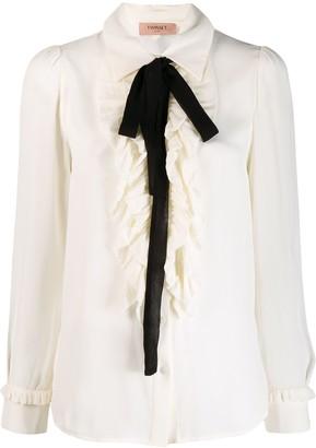 Twin-Set Ruffled Detail Shirt