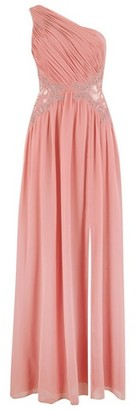 Dorothy Perkins Womens Little Mistress Coral One Shoulder Maxi Dress, Coral