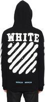 Off-White Spray Stripes Zip-Up Cotton Sweatshirt