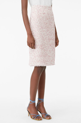 Rebecca Taylor Tailored Textured Tweed Skirt