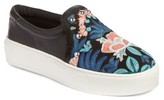 Rebecca Minkoff Women's Noelle Embellished Slip-On Platform Sneaker