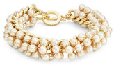 Carolee Faux Pearl Toggle Bracelet