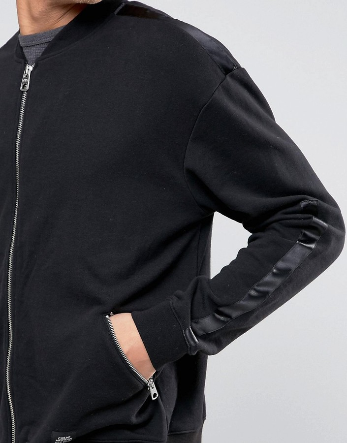 Cheap Monday Appeal Sweat Tuxedo Jersey Bomber