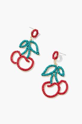 Forever 21 Beaded Cherry Drop Earrings