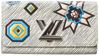 Louis Vuitton White Epi Leather Twist Wallet