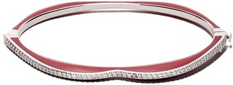 Raphaele Canot 18kt white gold OMG! diamond and enamel bangle
