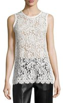IRO Helena Sleeveless Lace Tunic, Ecru