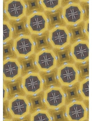 Latitude Run Crossan Patterned Gray/Yellow Area Rug Rug Size: Rectangle 2' x 5'