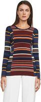 BCBGMAXAZRIA Melo Striped Jersey Top