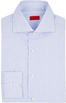 Isaia Men's Striped Cotton Poplin Shirt-WHITE, LIGHT BLUE