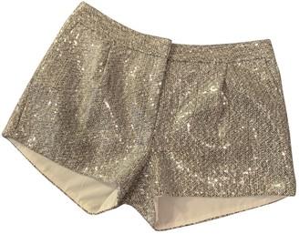 Diane von Furstenberg Grey Glitter Shorts