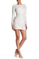 Dress the Population Embellished Sequin Long Sleeve Dress