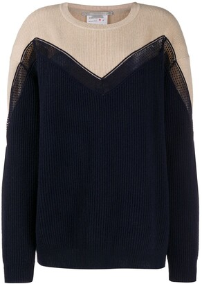 Stella McCartney Two-Tone Chevron Knitted Jumper