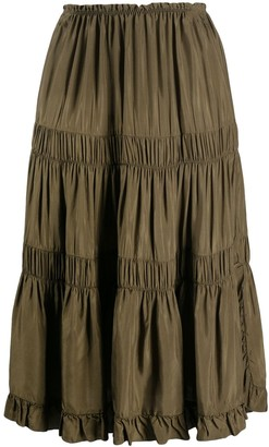 See by Chloe Ruched Panel Skirt