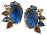 Carolee Gold-Tone Multi-Stone Stud Clip-On Earrings