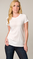 White Vintage Jewel Neck Tee