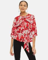 Topshop Fern Knot Front Blouse