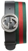 Gucci Men's Logo Buckle Interlock Belt