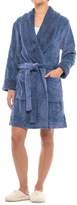 Catherine Malandrino Catherine Plush Cable Fleece Robe - Long Sleeve (For Women)