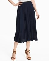 White House Black Market Pleated Midi Skirt