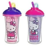 Munchkin Hello Kitty Click Lock Insulated Straw Cup by 9oz - 2pk by